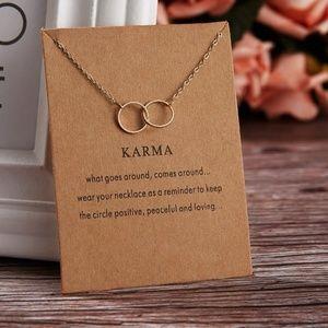 Dainty Karma Necklace with Card